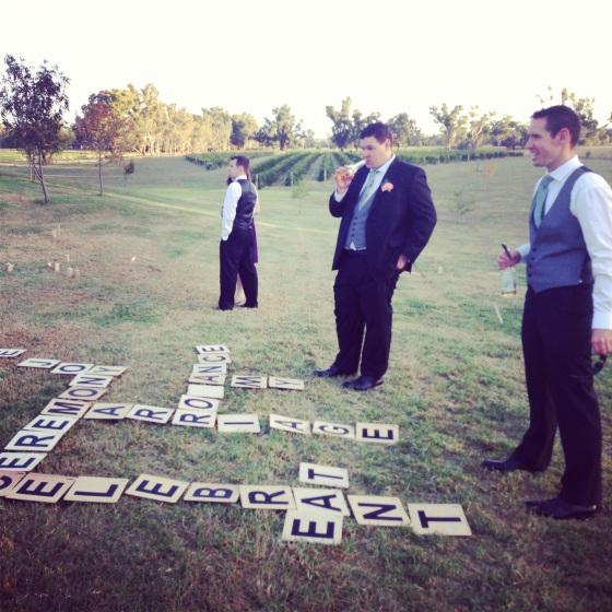 groomsmen scrabble