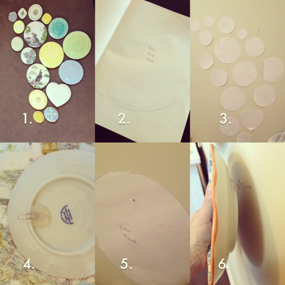 arranging a plate display