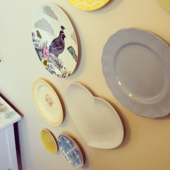 old and vintage plate display