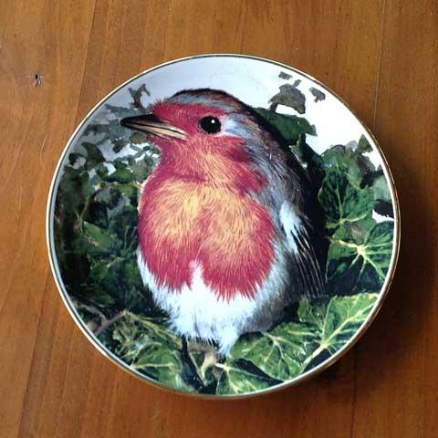 pretty bird plate