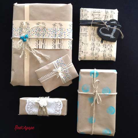 gift wrapping ideas blue theme