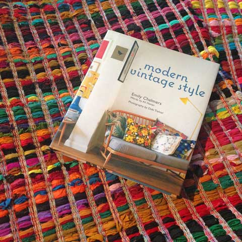 jumbled workshop rag rug modern vintage style