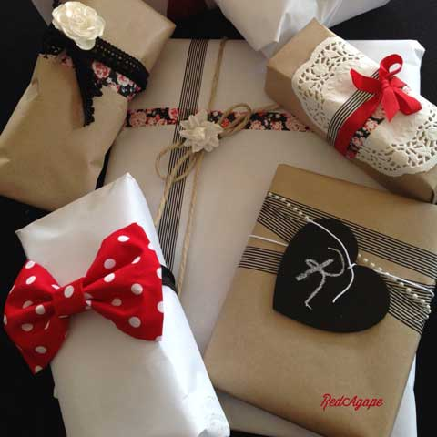 gift wrapping ideas red themed
