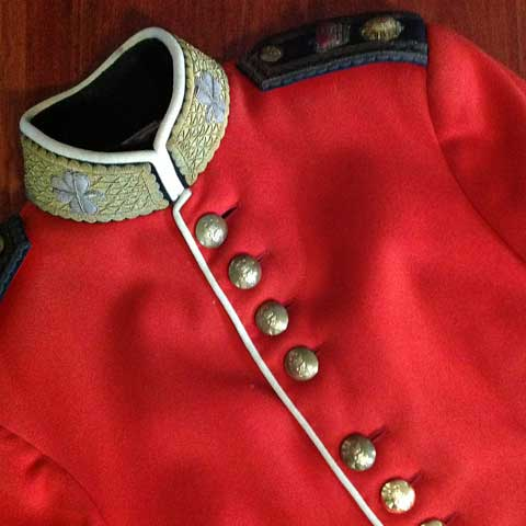 red military jacket front
