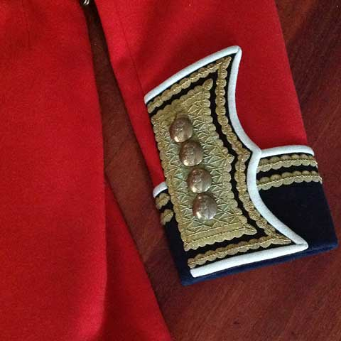 military jacket sleeve