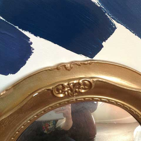 navy paint wall samples