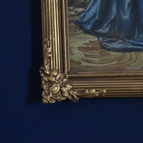gold antique framed painting