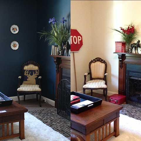 parlour makeover before and after