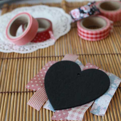 washi tape card heart template