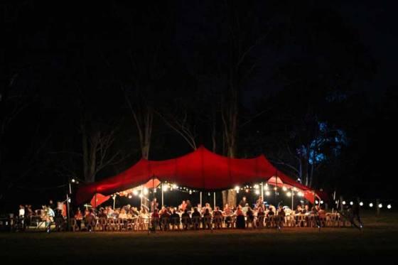 magical lantern lit wedding tent