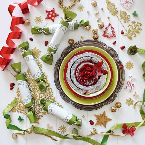 christmas decor and cheer vignette
