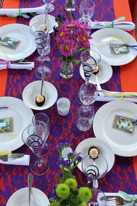 table setting for a party