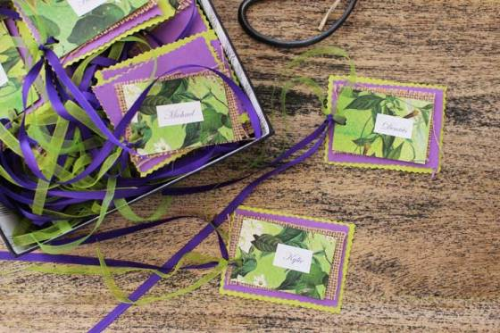 DIY party ideas place cards