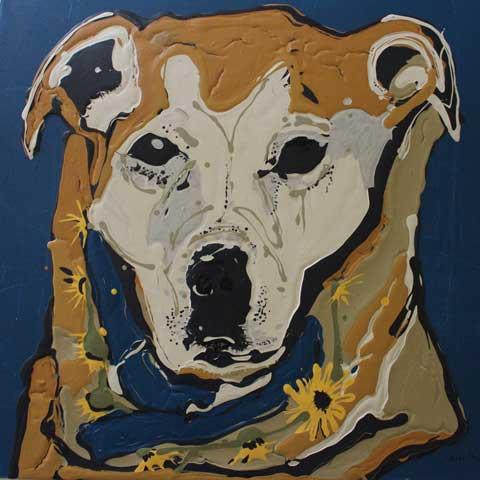 Forty9L Artworks - Red Dog by Jacinta Haycock