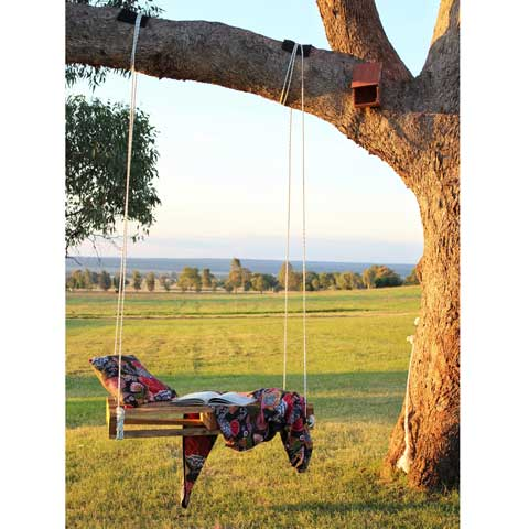DIY pallet tree swing styled