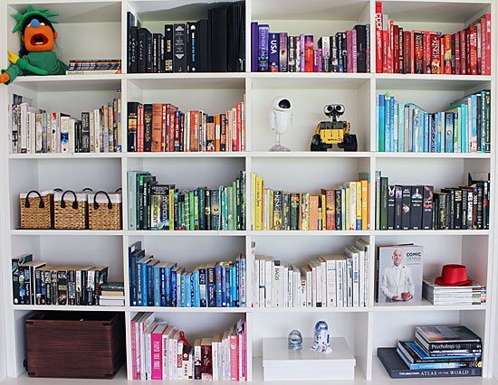 Colour coded bookcase