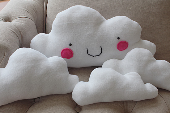 Cute cloud pillows