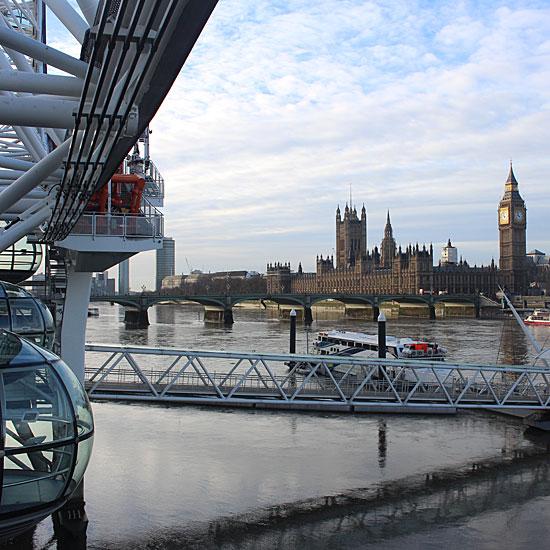 the London Eye view of Big Ben