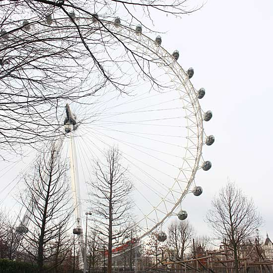 The London Eye in Winter