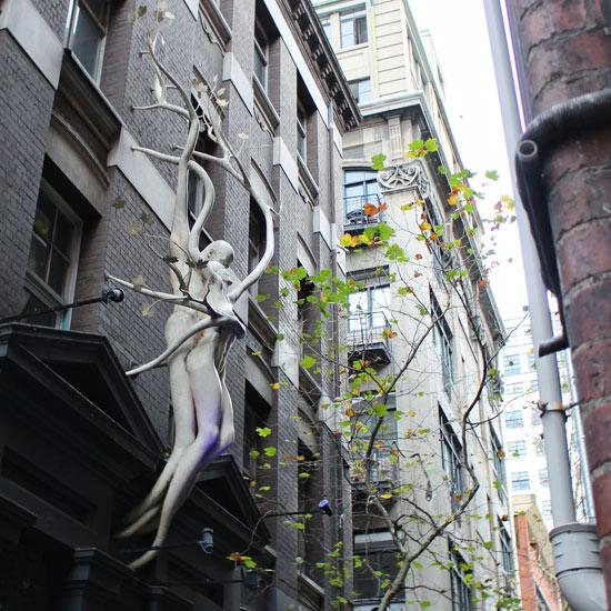 tree sculpture melbourne city