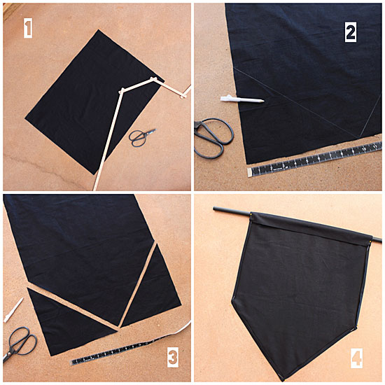 craft wall banner tutorial