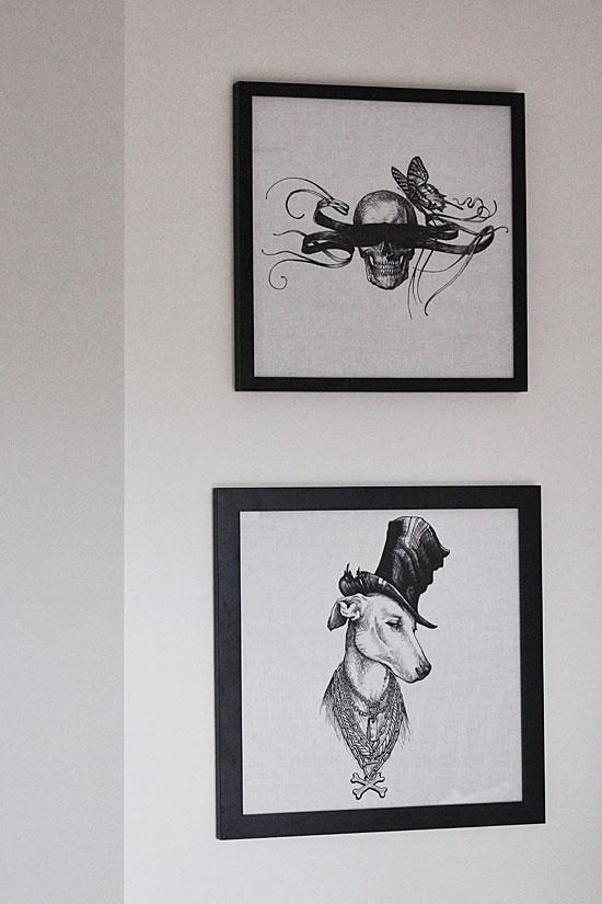Rory Dobner framed napkins