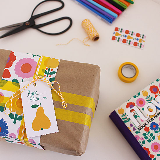 washi tape and patterned paper