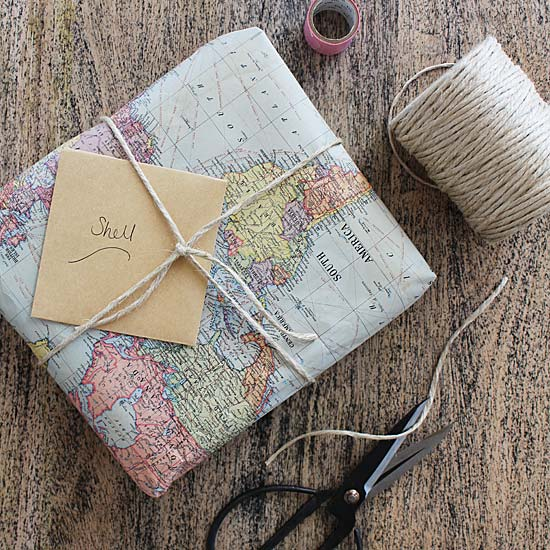 map paper and string