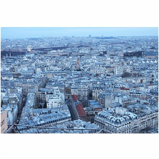 eiffel tower view over paris