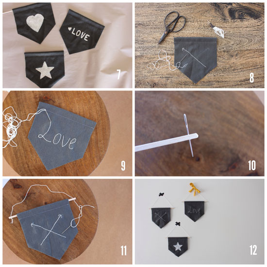 felt pennants wall hangings