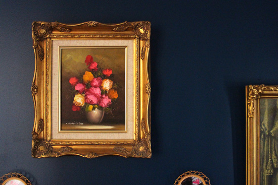 flower oil painting gallery wall