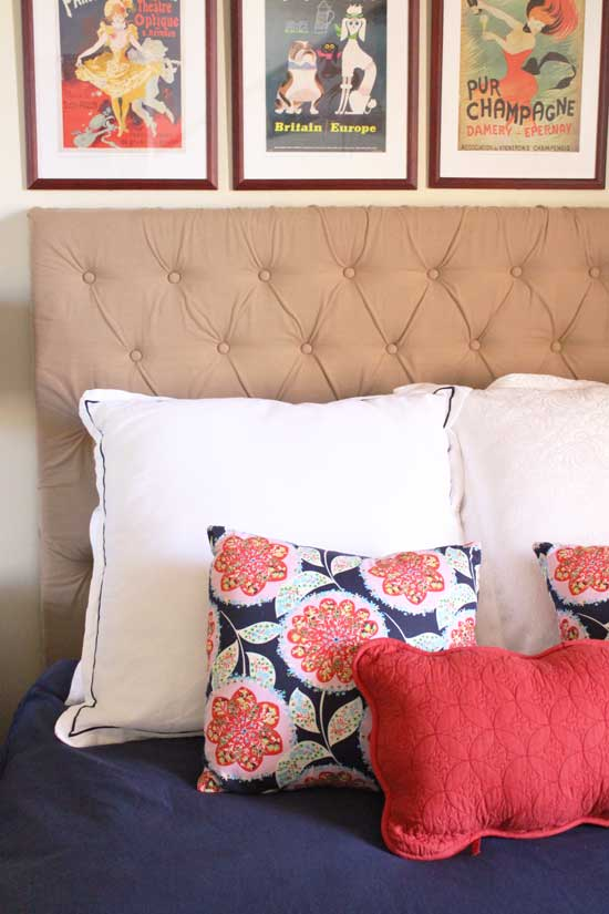 beige headboard DIY