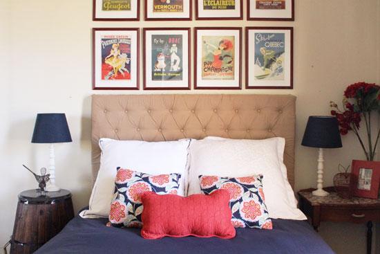 beige bedhead navy room