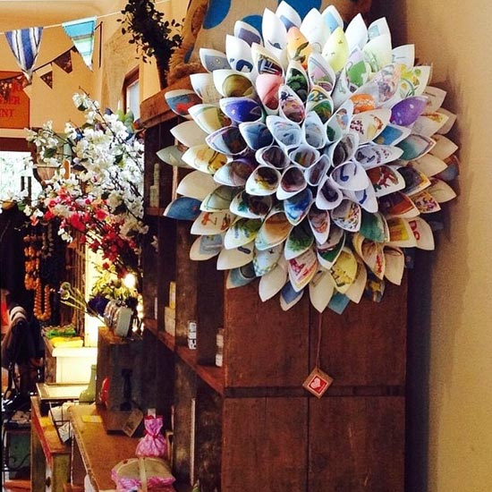 paper craft wreath
