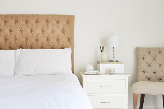pegboard bedhead tufted