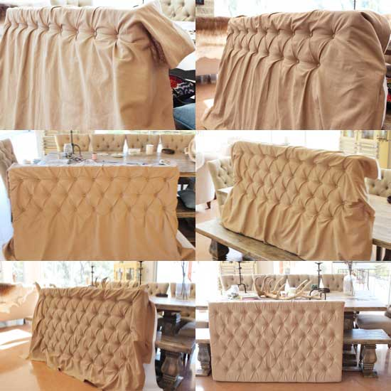 tutorial for tufted headboard
