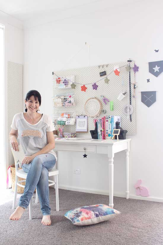 craft room, pegboard, organising