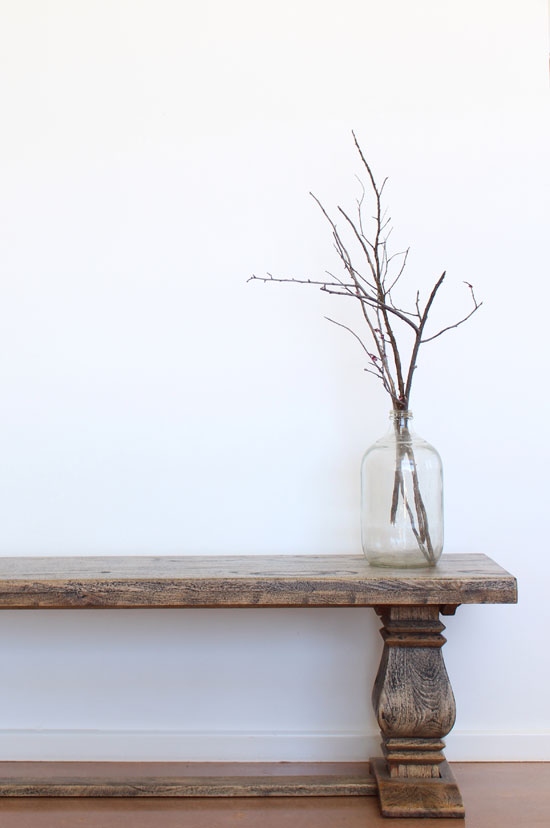 branches in a vintage bottle