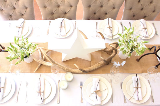 Christmas, table setting, decorating, styling