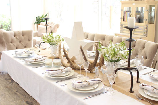 Christmas styling, table setting