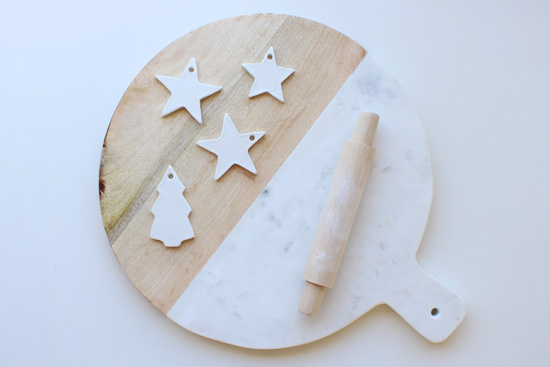 Marble, wood, Christmas, white clay