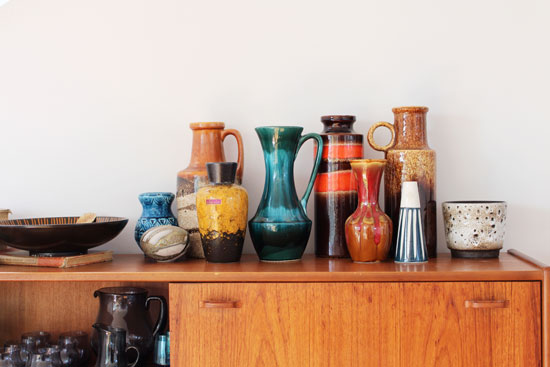 collection of german pottery