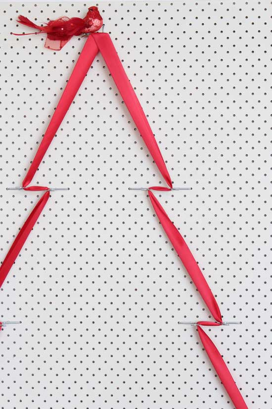 pegboard chistmas ideas