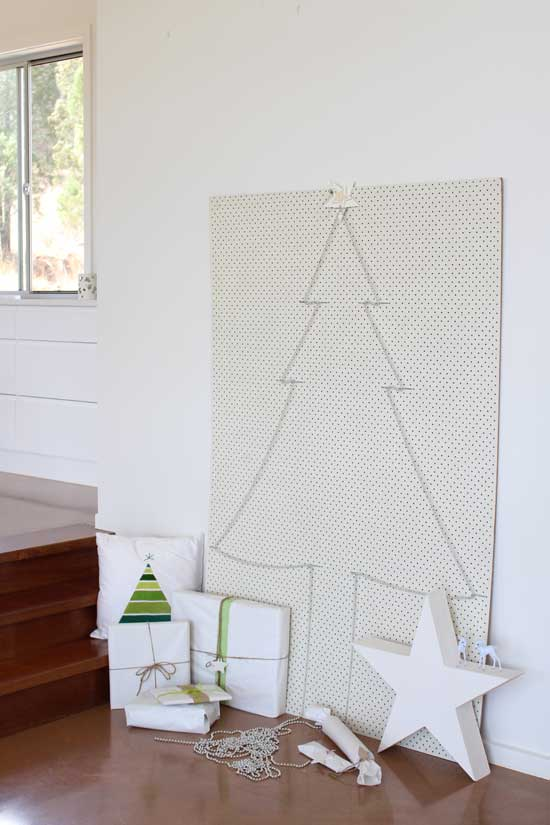 pegboard christmas decor
