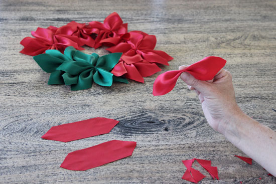Diy Christmas Wreath Ribbon Poinsettias Redagape Style