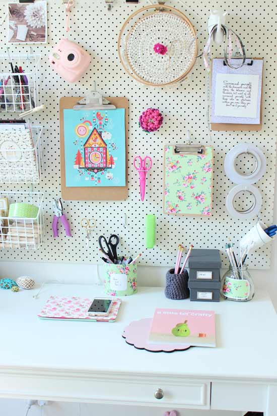 pegboard office pretty