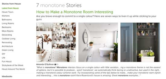 houzz monotone interiors