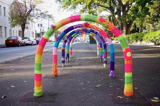 Redfern oval - yarn bombing