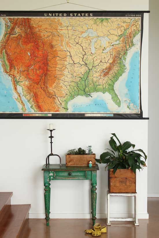 recycled vintage map