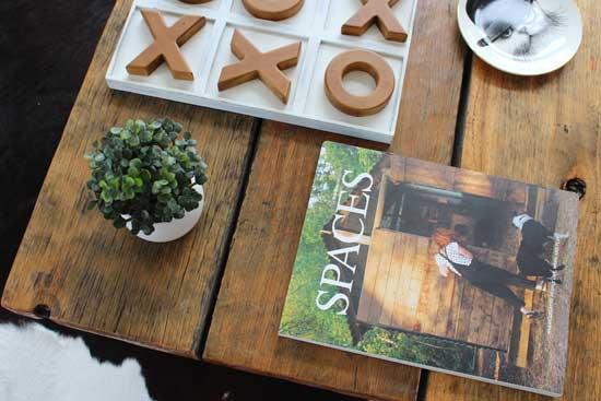 recycled railway sleeper table